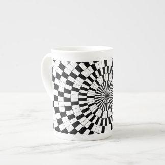 Espirales contrarios taza de porcelana