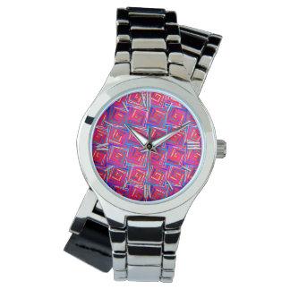 Espirales cuadrados modernos de los mediados de relojes de pulsera