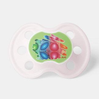 Espirales cuádricos en pacificador verde chupetes para bebés