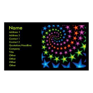 espirales de la estrella tarjetas de visita