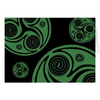 Espirales de Triskel del irlandés de la tarjeta de
