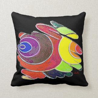 Espirales del arco iris en la almohada de tiro