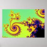 Espirales del fractal posters