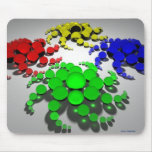espirales del mousepad del color alfombrilla de ratón