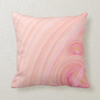 Espirales del pastel del rosa y del melocotón cojín