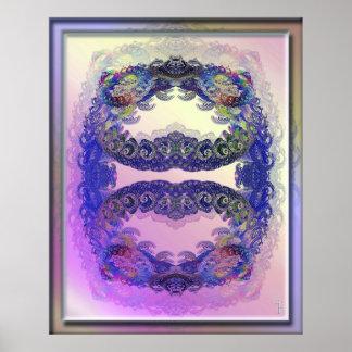 Espirales dentro de la impresión del arte de los e poster