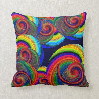 Espirales en azul almohada