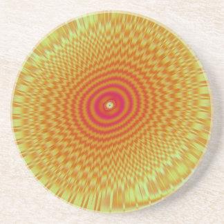 Espirales hipnóticos posavasos diseño