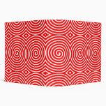 Espirales (los 2in) - rojo en blanco