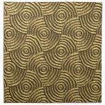 Espirales modernos del metal del oro servilleta de papel