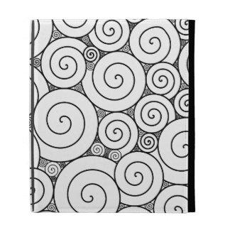 Espirales negros y blancos geométricos apacibles