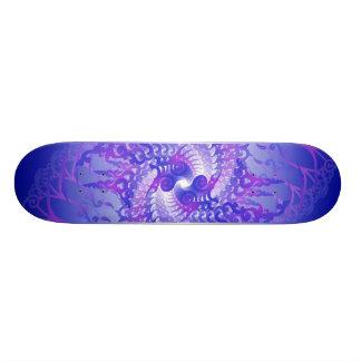 Espirales púrpuras y azules Monopatín