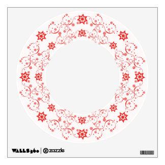 Espirales rojos de la estrella vinilo adhesivo