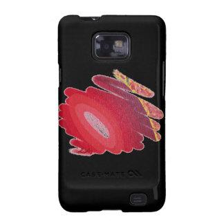 Espirales rojos del resplandor de la caja S2 de la Samsung Galaxy SII Funda