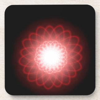 Espirales rojos hipnóticos posavaso