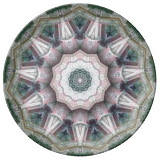 Espirales rosados plato de cerámica