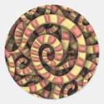Espirales serpentinos pegatina redonda