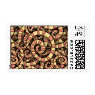 Espirales serpentinos sello