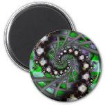 Espirales verdes de la esfera imán de frigorifico