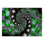 Espirales verdes de la esfera tarjetas