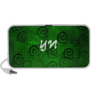 Espirales verdes festivos altavoces
