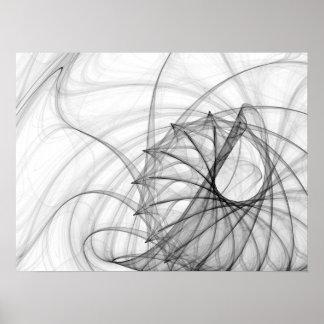 Espirales y espinas dorsales de la tinta impresiones