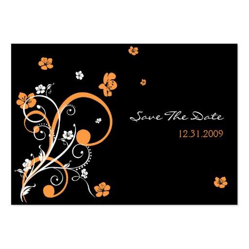 Espirales y flores que casan reserva la fecha tarjetas de visita grandes