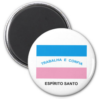 Espírito Santo, bandera del Brasil Imán Redondo 5 Cm
