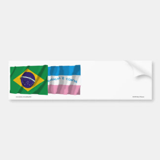 Espírito Santo & Brazil Waving Flags Bumper Sticker