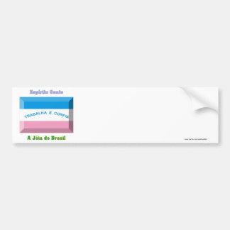 Espírito Santo Flag Gem Car Bumper Sticker