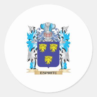 Espiritu Coat of Arms - Family Crest Round Stickers
