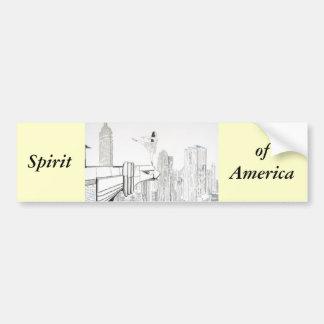 Espíritu de América Pegatina De Parachoque