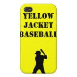 Espíritu de equipo del béisbol iPhone 4 funda