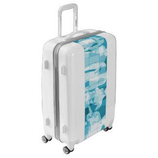 Espíritu de equipo en una misión en concepto del maletas