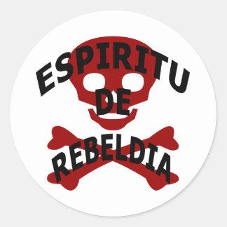 Espiritu De Rebeldia Round Sticker