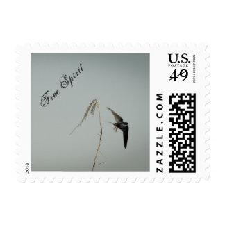 Espíritu libre - trago de granero en vuelo sello