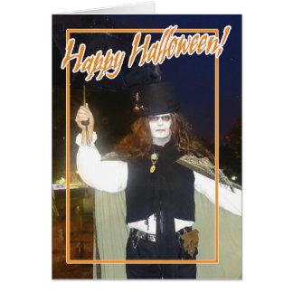 Espíritu necrófago del feliz Halloween Tarjeta De Felicitación