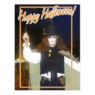 Espíritu necrófago del feliz Halloween Tarjeta Postal