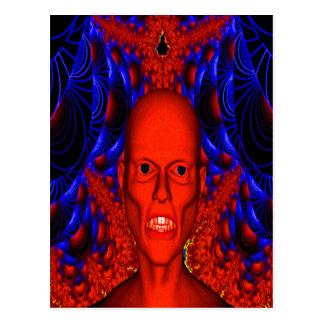 Espíritu necrófago rojo tarjeta postal