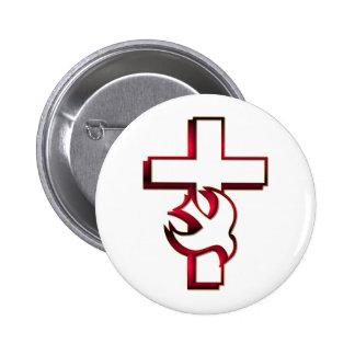 Espíritu Santo cruzado y/espíritu santo Pin