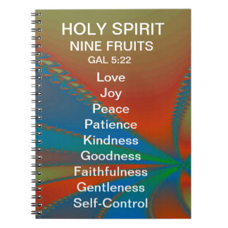 """ESPÍRITU SANTO """"nueve frutas"""" Gal.5: DIARIO 22 Spiral Notebook"""