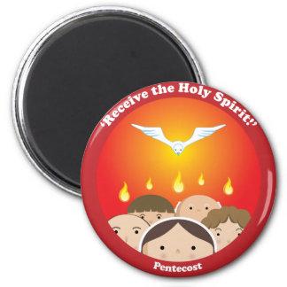 Espíritu Santo Pentecost Imán Redondo 5 Cm