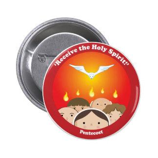 Espíritu Santo Pentecost Pin Redondo De 2 Pulgadas