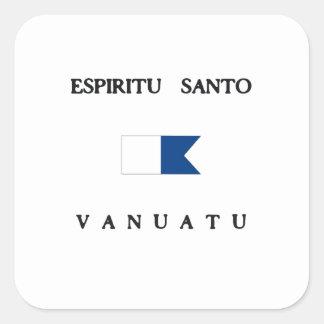 Espiritu Santo Vanuatu Alpha Dive Flag Square Sticker