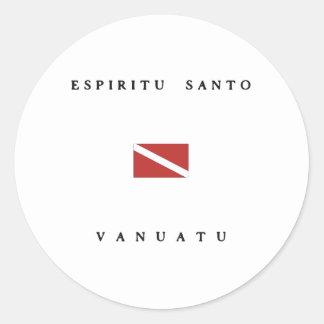 Espiritu Santo Vanuatu Scuba Dive Flag Stickers