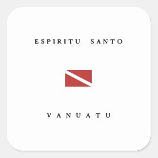 Espiritu Santo Vanuatu Scuba Dive Flag Sticker