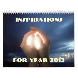 Espiritual de motivación de la fe de las calendario