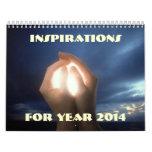 Espiritual de motivación de la fe de las inspiraci calendario