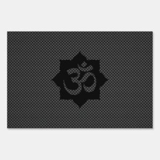 Espiritualidad de Lotus del símbolo de OM en Letreros