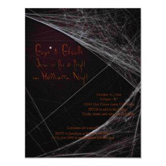 """Espíritus necrófagos de Halloween Invitación 4.25"""" X 5.5"""""""